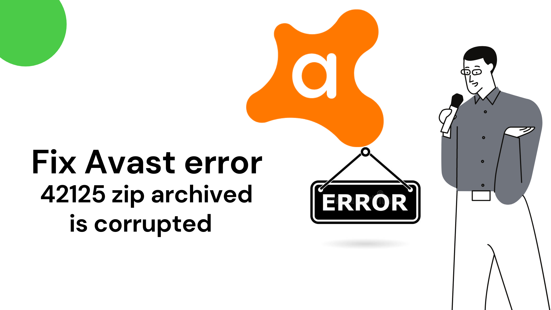 Fix Avast error 42125 zip archived is corrupted